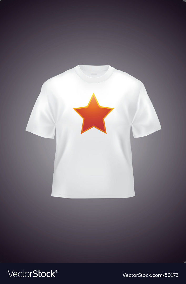 White t-shirt vector | Price: 1 Credit (USD $1)