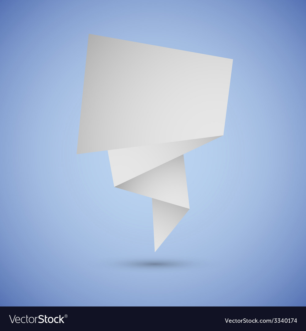 Abstract origami speech background on blue vector | Price: 1 Credit (USD $1)