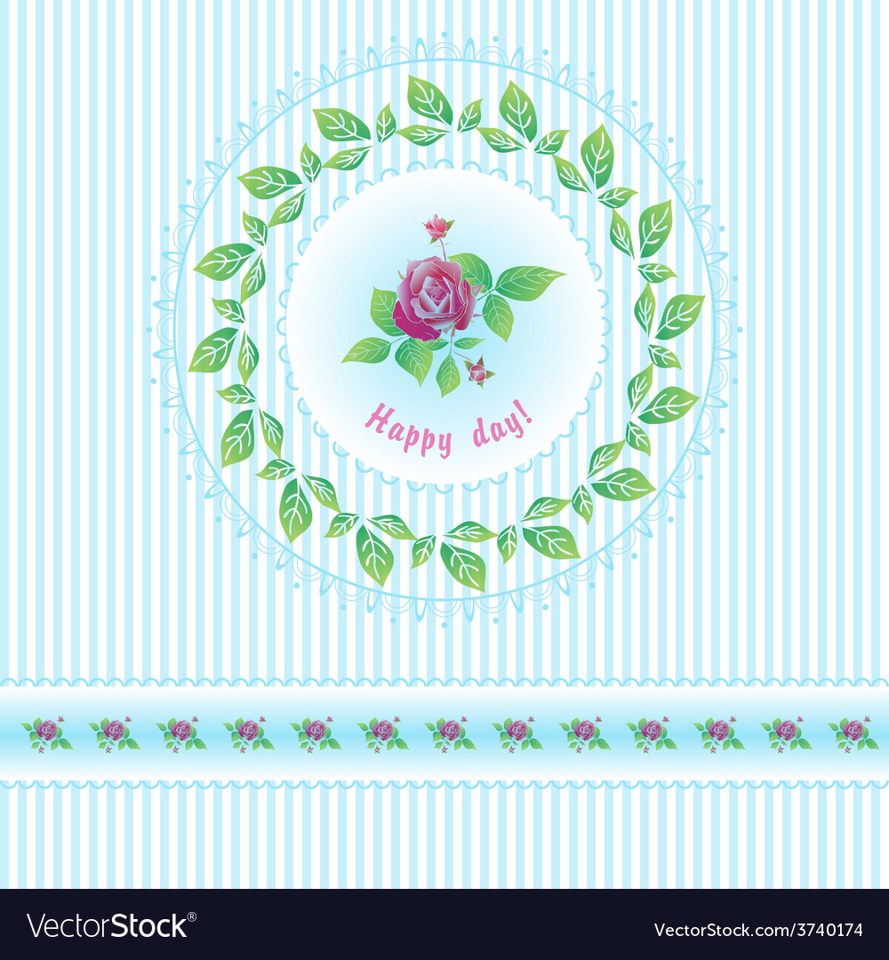 Beautiful roses post card for holiday vector | Price: 1 Credit (USD $1)