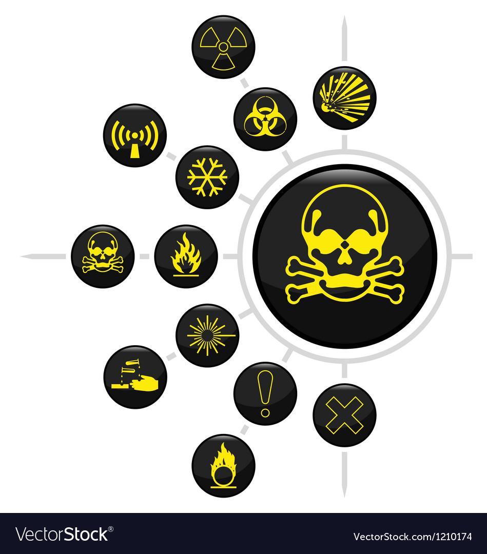 Hazard warning vector | Price: 1 Credit (USD $1)