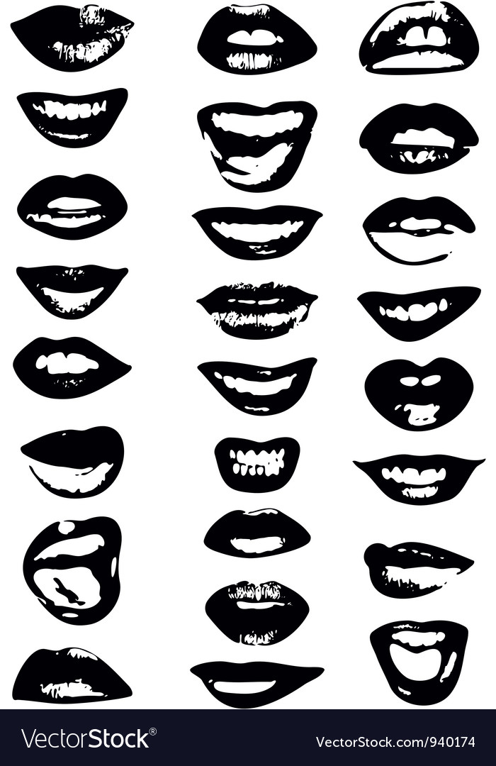 Lips set woman vector | Price: 1 Credit (USD $1)