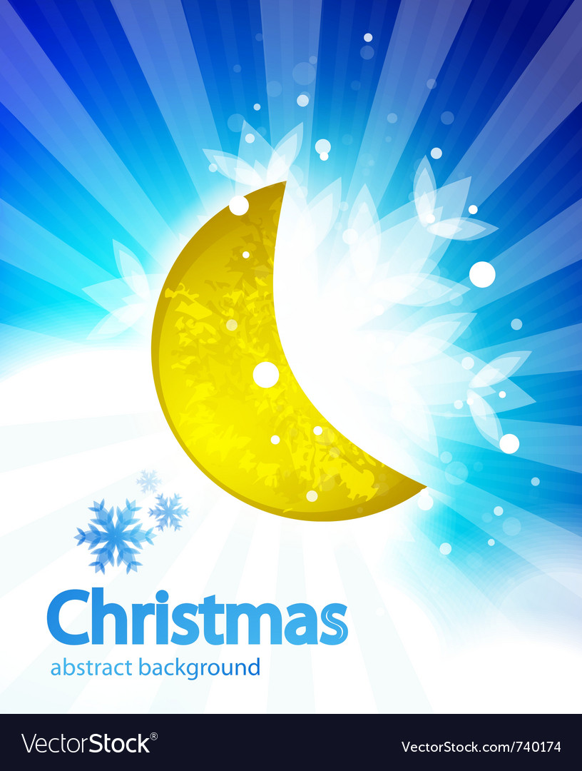 Moon christmas background vector | Price: 1 Credit (USD $1)