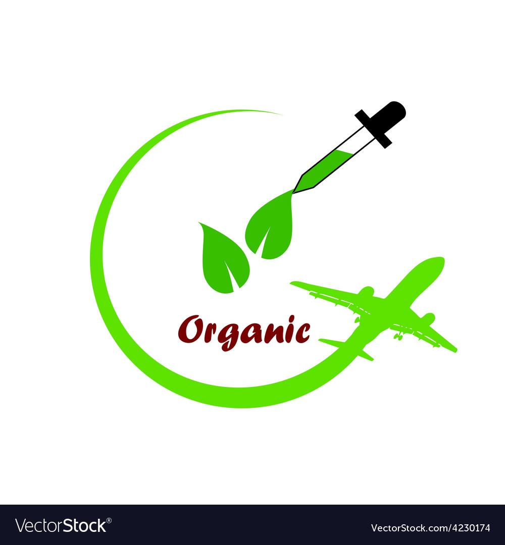 Organic icon green vector | Price: 1 Credit (USD $1)