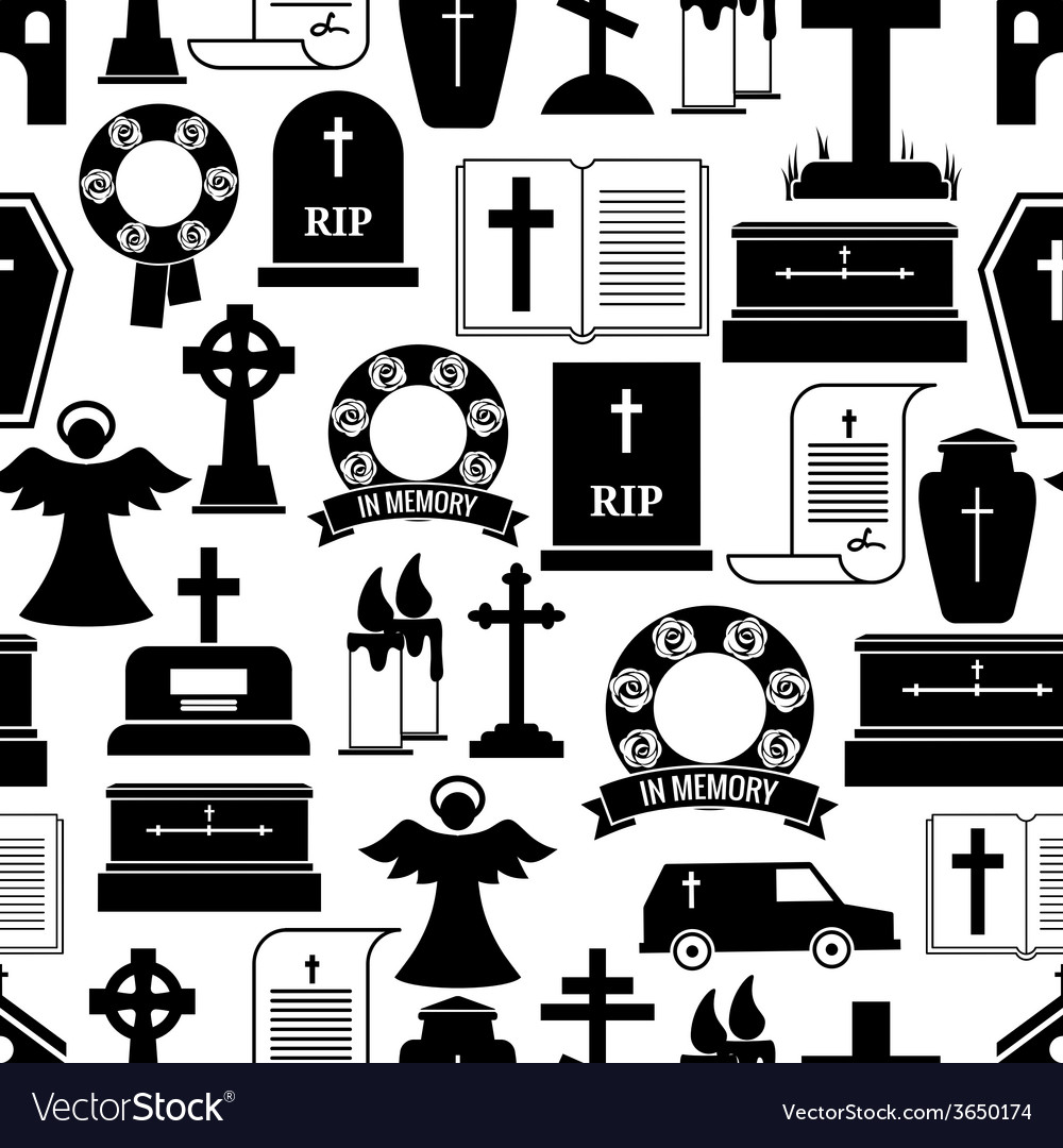 Rip and funeral background pattern vector | Price: 1 Credit (USD $1)