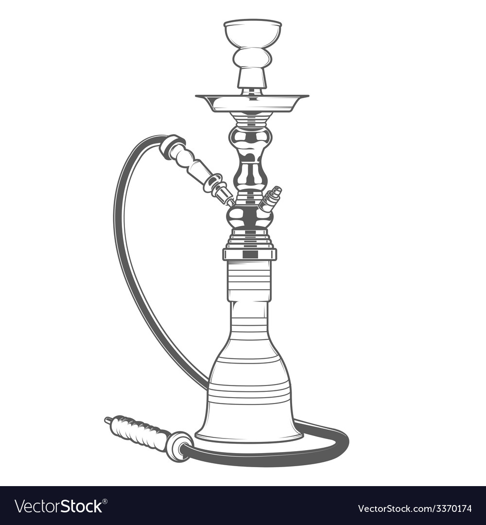 Shisha with pipe vector | Price: 1 Credit (USD $1)