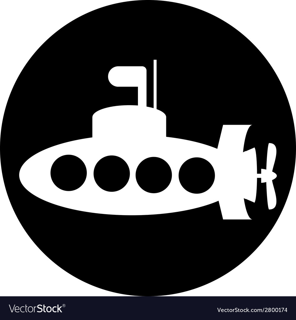 Submarine button vector | Price: 1 Credit (USD $1)