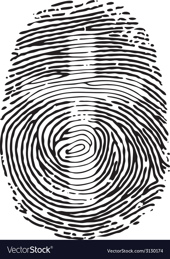 Thumb print vector | Price: 1 Credit (USD $1)