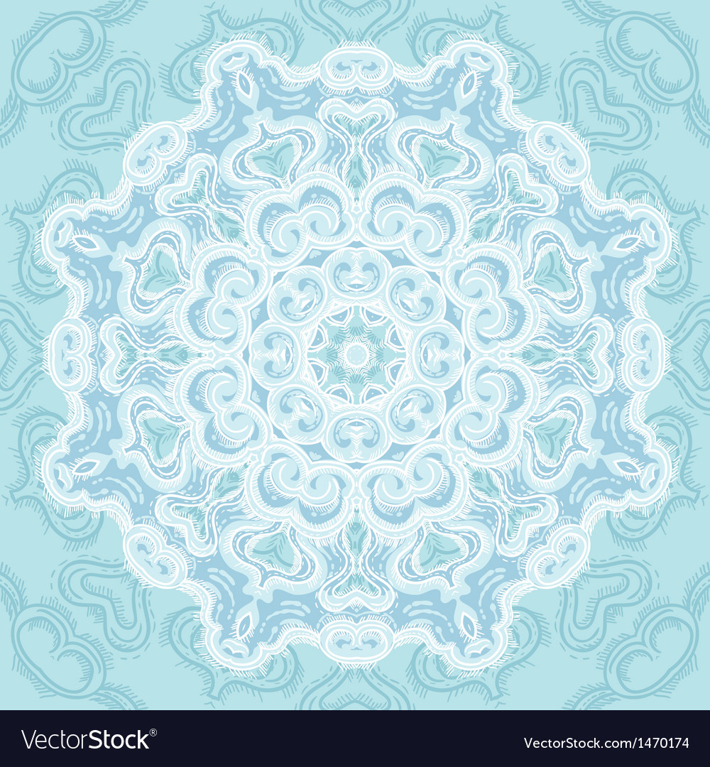 Vintage template oriental circle background vector | Price: 1 Credit (USD $1)