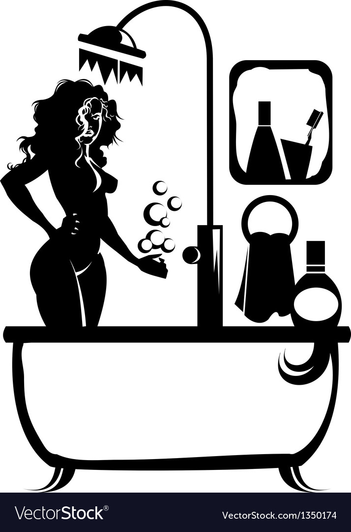 Woman in a bath vector | Price: 1 Credit (USD $1)