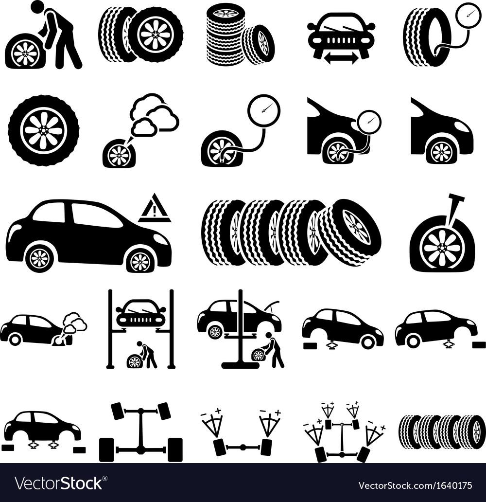 Auto repair icons vector | Price: 1 Credit (USD $1)
