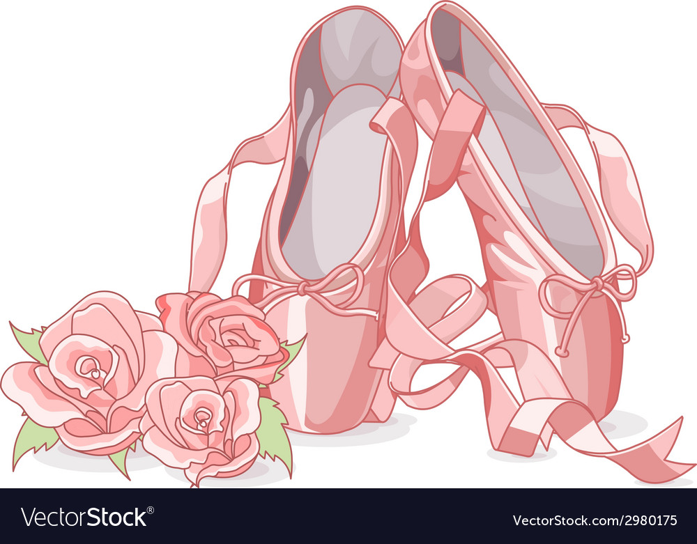 Beautiful ballet slippers vector | Price: 1 Credit (USD $1)