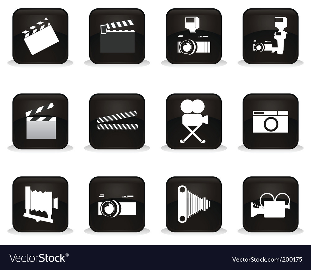 Cinema buttons vector | Price: 1 Credit (USD $1)