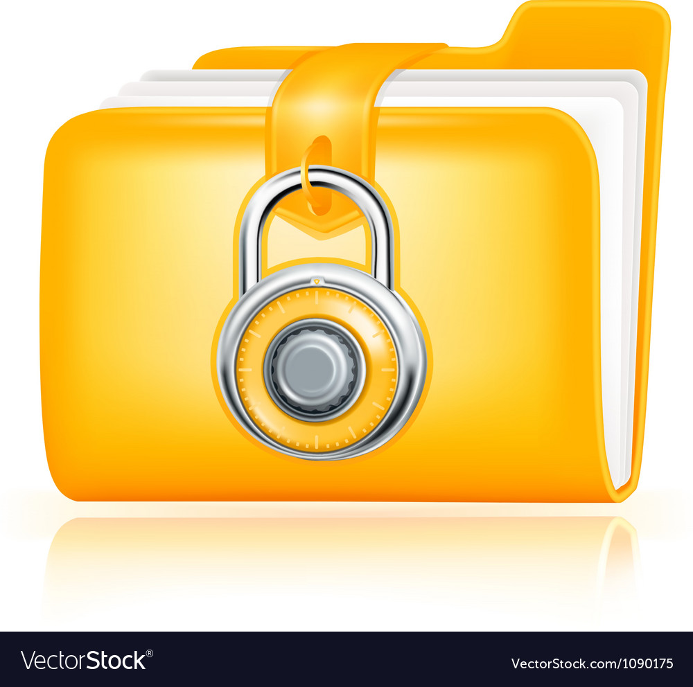 Closed folder icon vector | Price: 1 Credit (USD $1)