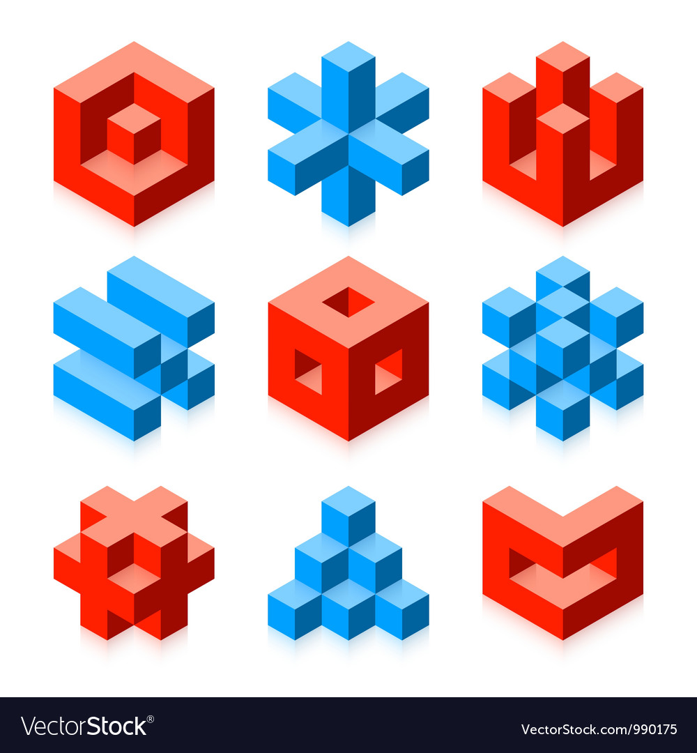 Cubic objects vector | Price: 1 Credit (USD $1)