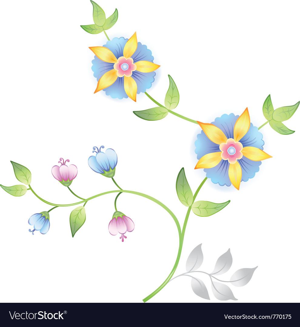 Decor floral elements set vector | Price: 1 Credit (USD $1)