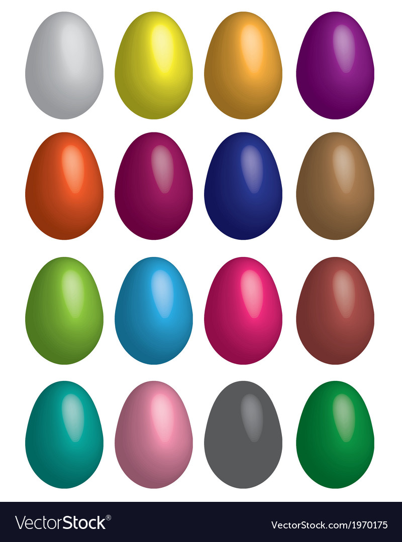 Eggs multicoloured vector | Price: 1 Credit (USD $1)