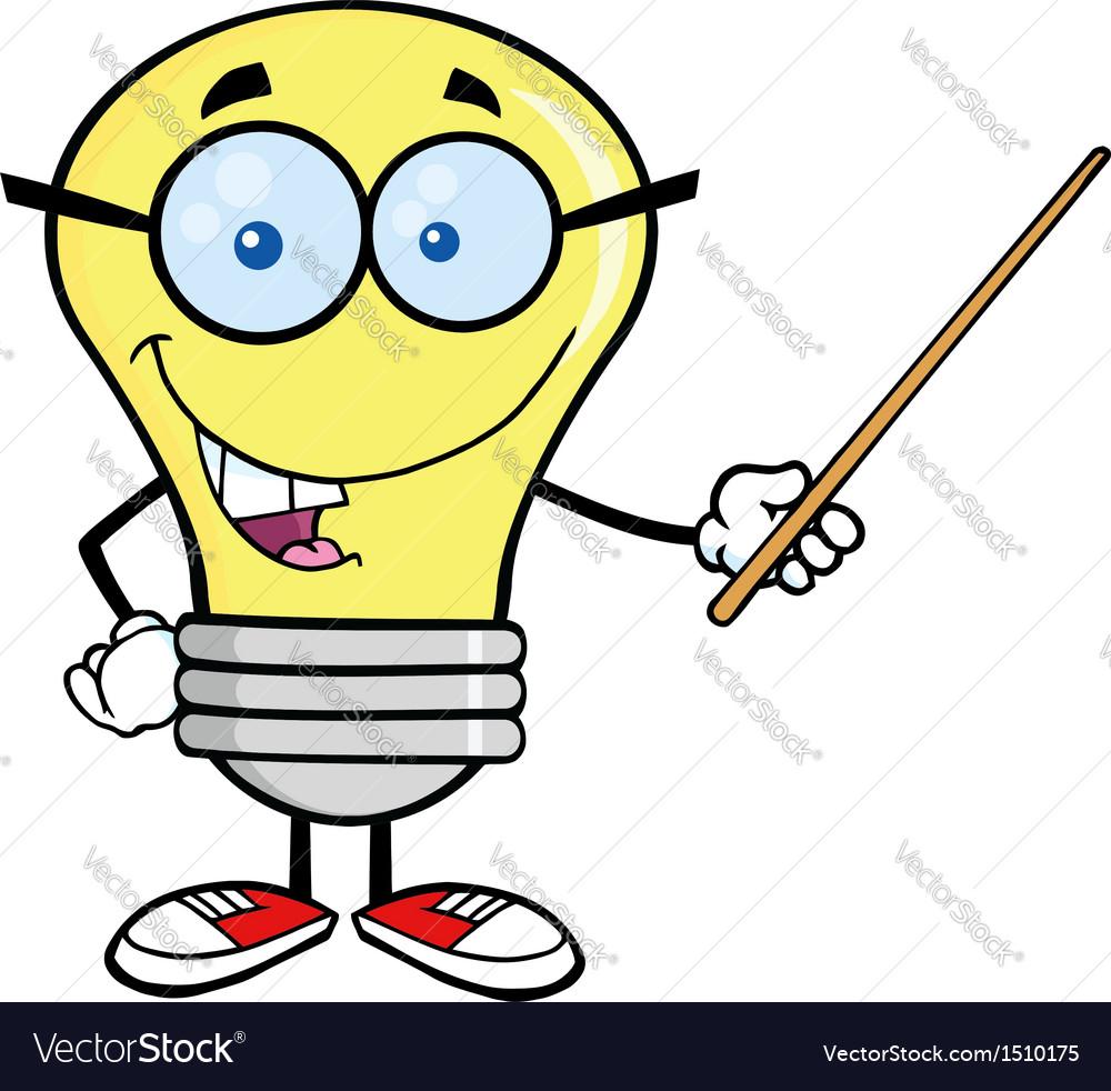 Light bulb geek cartoon vector   Price: 1 Credit (USD $1)