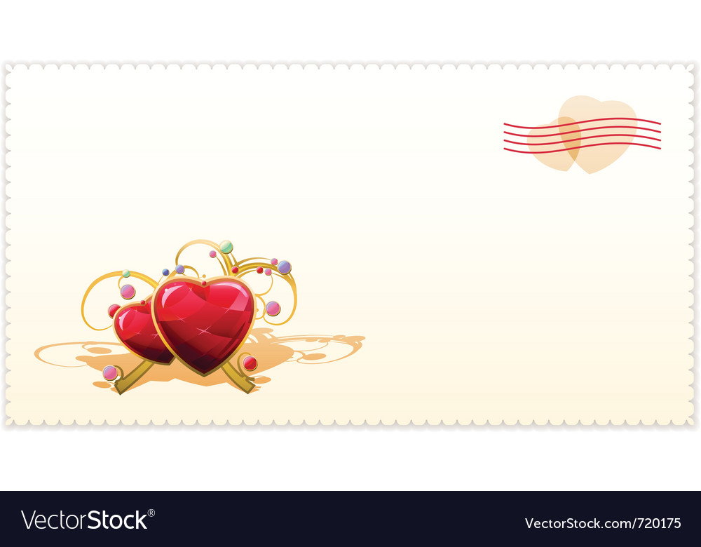 Old-fashioned valentine card vector | Price: 1 Credit (USD $1)