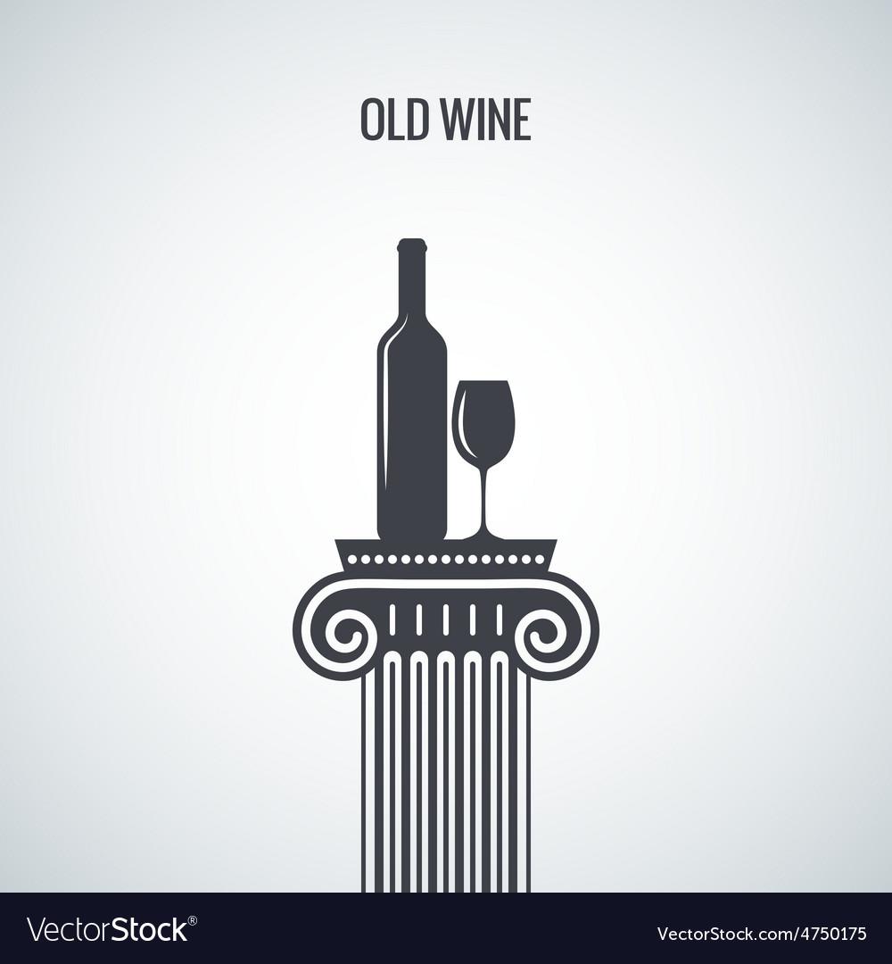 Wine bottle glass classic design background vector | Price: 1 Credit (USD $1)