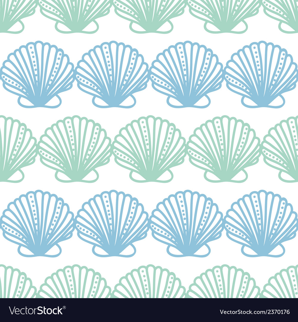 Abstract seashels stripes seamless pattern vector | Price: 1 Credit (USD $1)