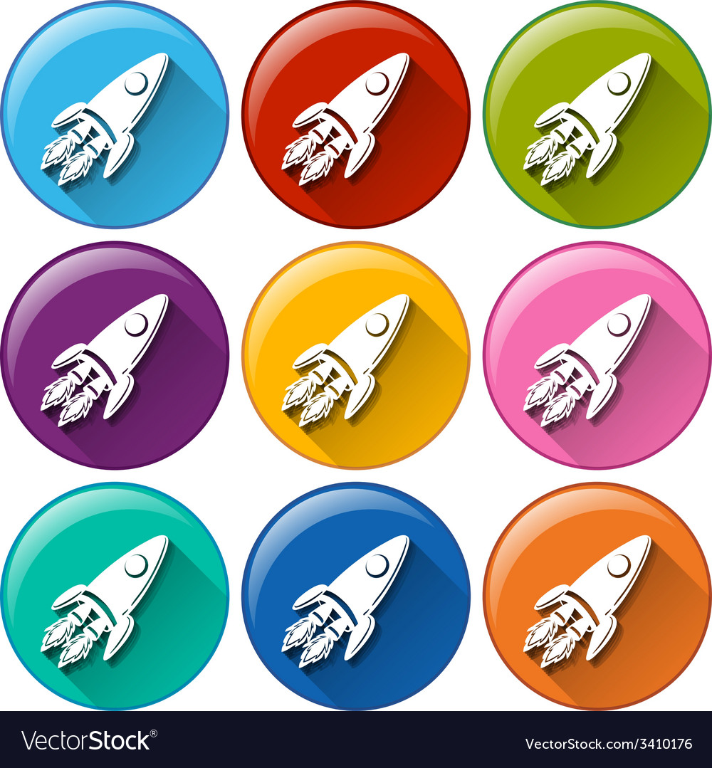 Buttons with rockets vector | Price: 1 Credit (USD $1)