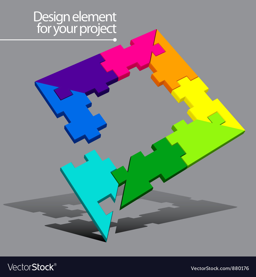 Puzzle element for your project vector | Price: 1 Credit (USD $1)