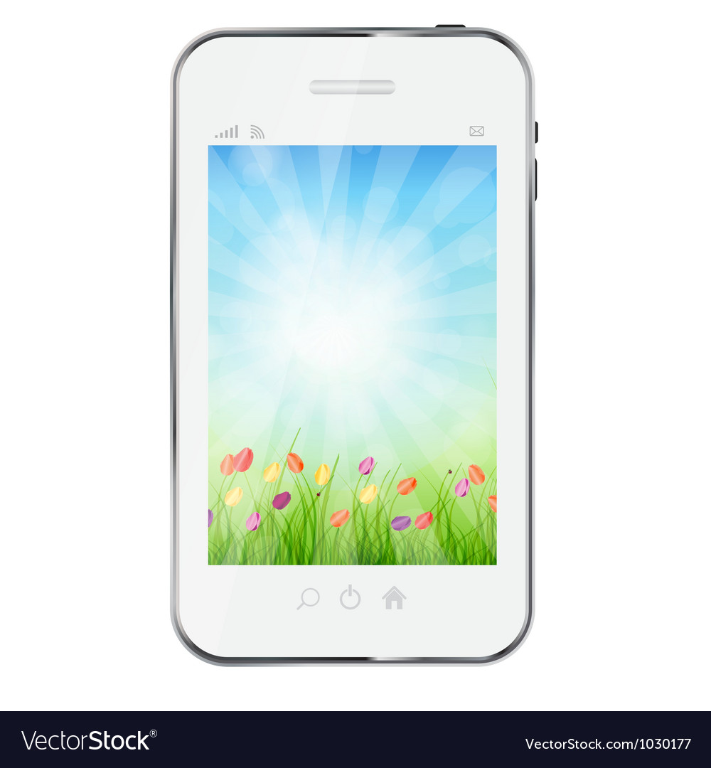 A ecologic mobile phone concept vector | Price: 1 Credit (USD $1)