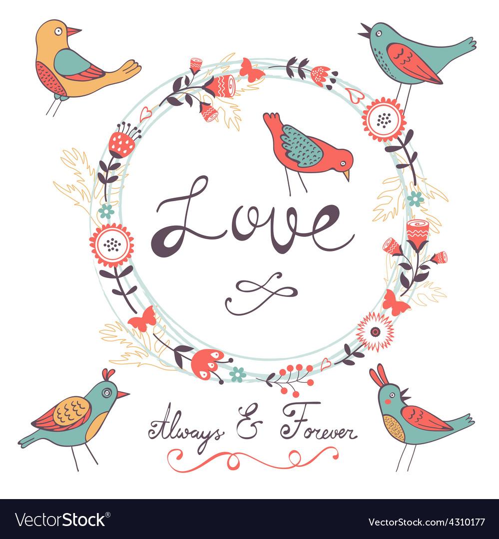 Elegant love card vector | Price: 1 Credit (USD $1)