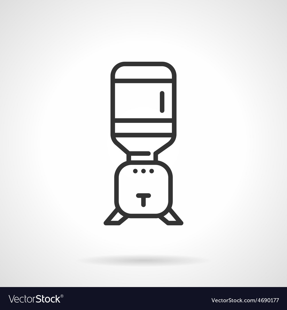 Flat line cooler icon vector | Price: 1 Credit (USD $1)
