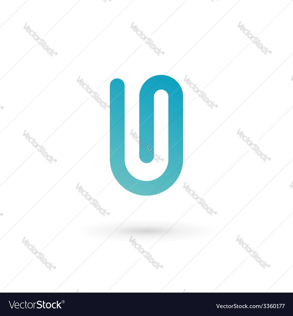 Letter u clip logo icon design template elements vector   Price: 1 Credit (USD $1)