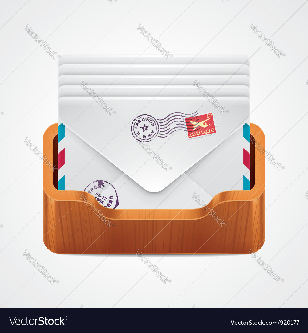 Mailbox icon vector | Price: 3 Credit (USD $3)