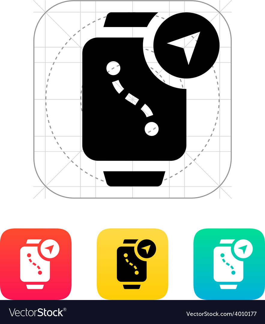 Navigation and gps in smart watch icon vector | Price: 1 Credit (USD $1)
