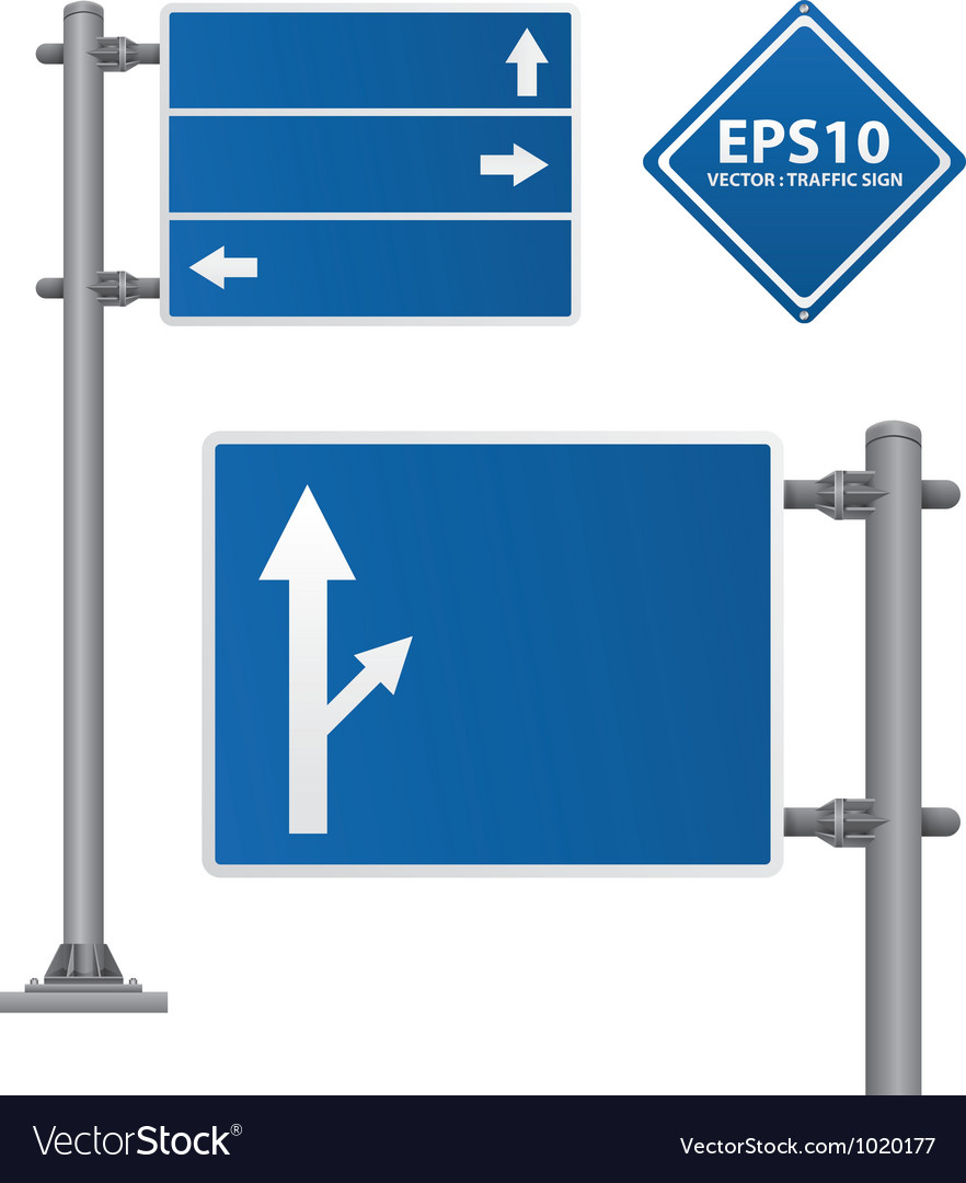 Road signs blue color vector | Price: 1 Credit (USD $1)