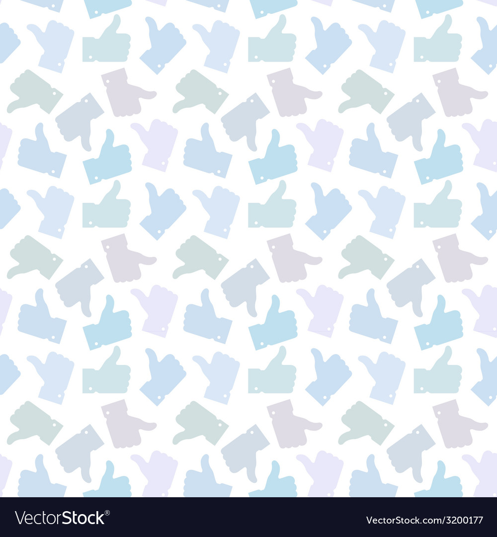 Seamless pattern light thumb up icons vector | Price: 1 Credit (USD $1)
