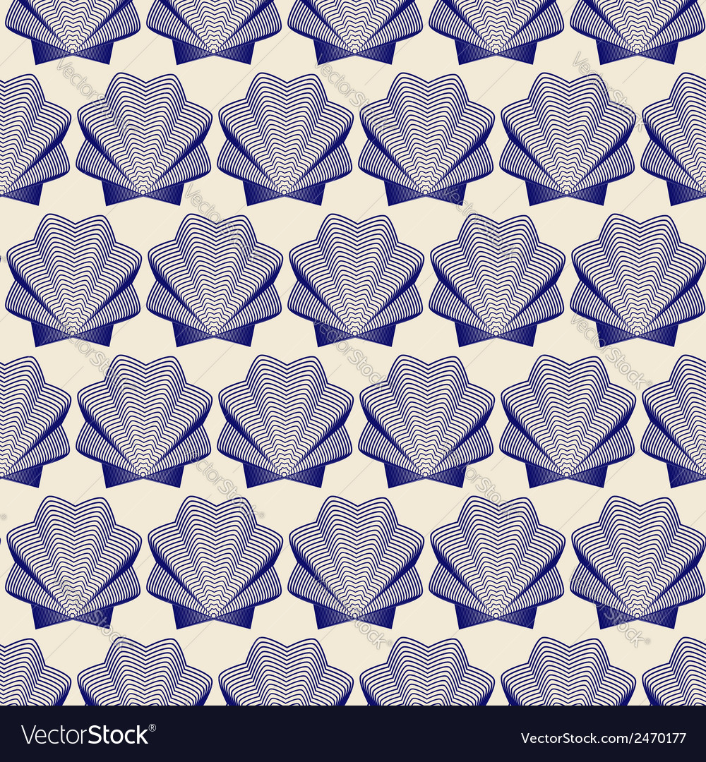Seamless shells background vector | Price: 1 Credit (USD $1)