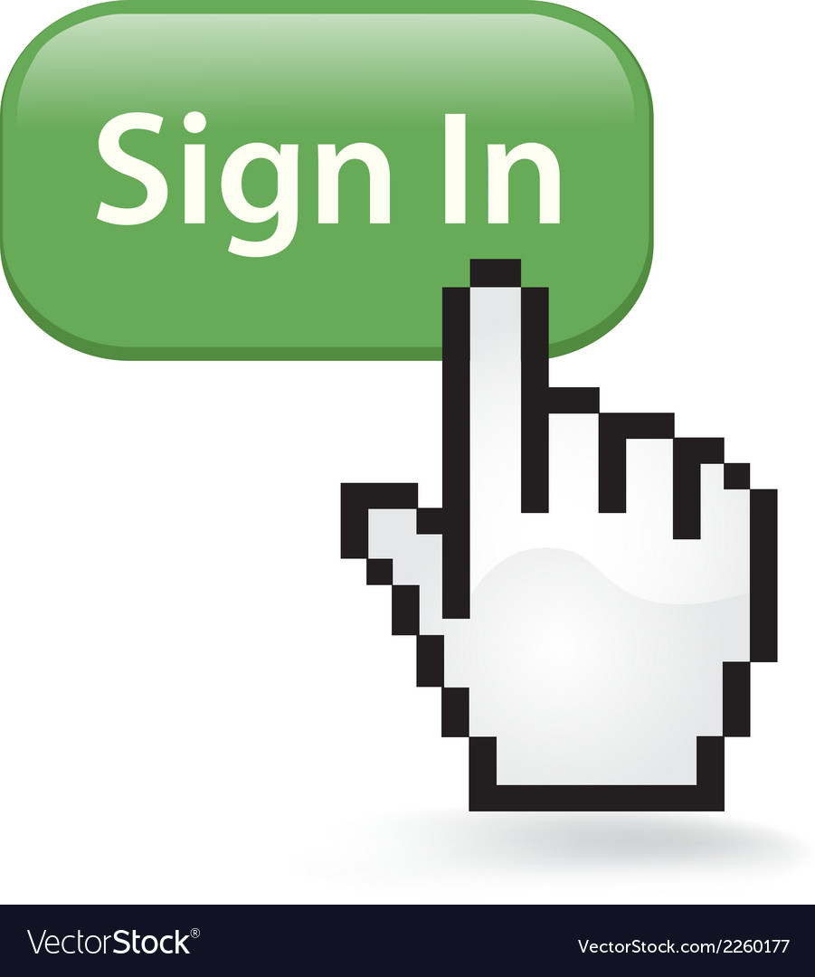 Sign in click vector | Price: 1 Credit (USD $1)