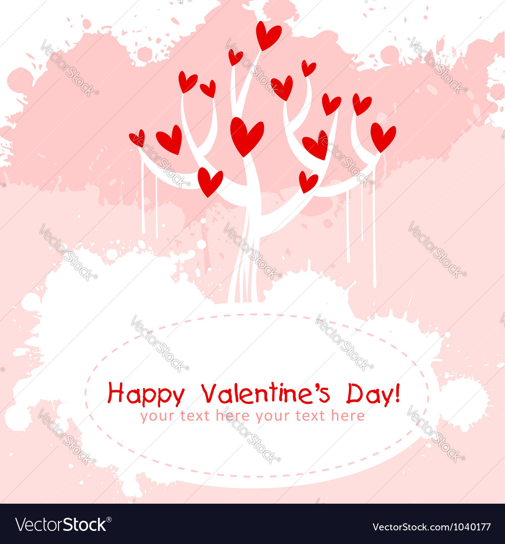 Valentine day pink love invitation card vector | Price: 1 Credit (USD $1)