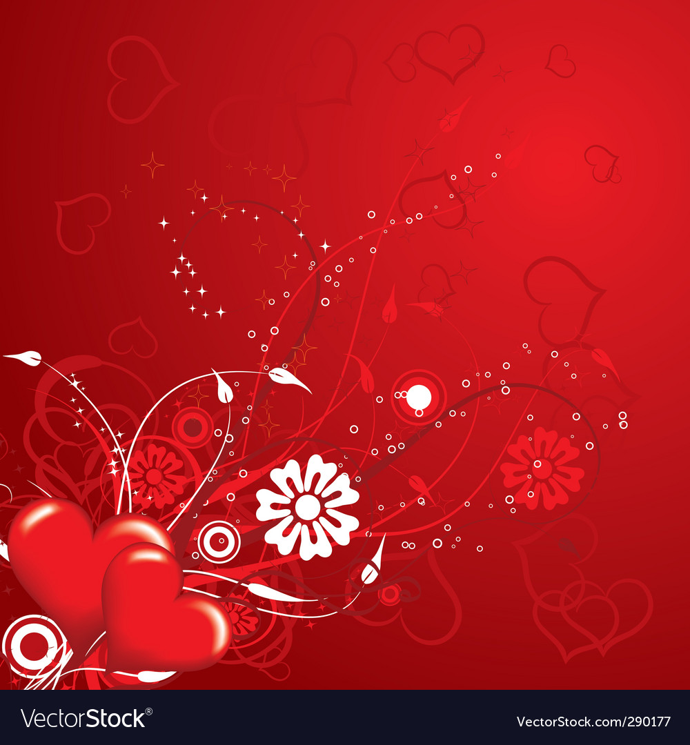 Valentines floral background vector | Price: 1 Credit (USD $1)