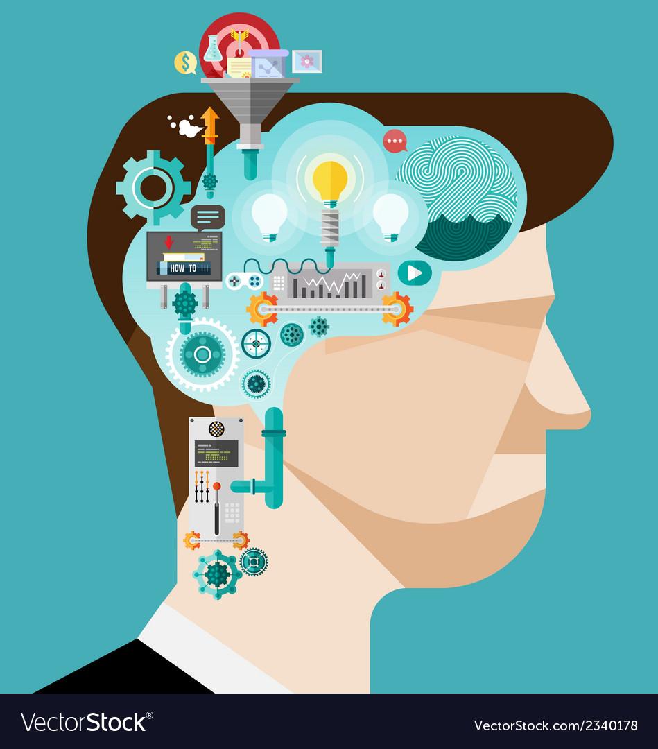Brainstorming businessman create idea vector   Price: 3 Credit (USD $3)