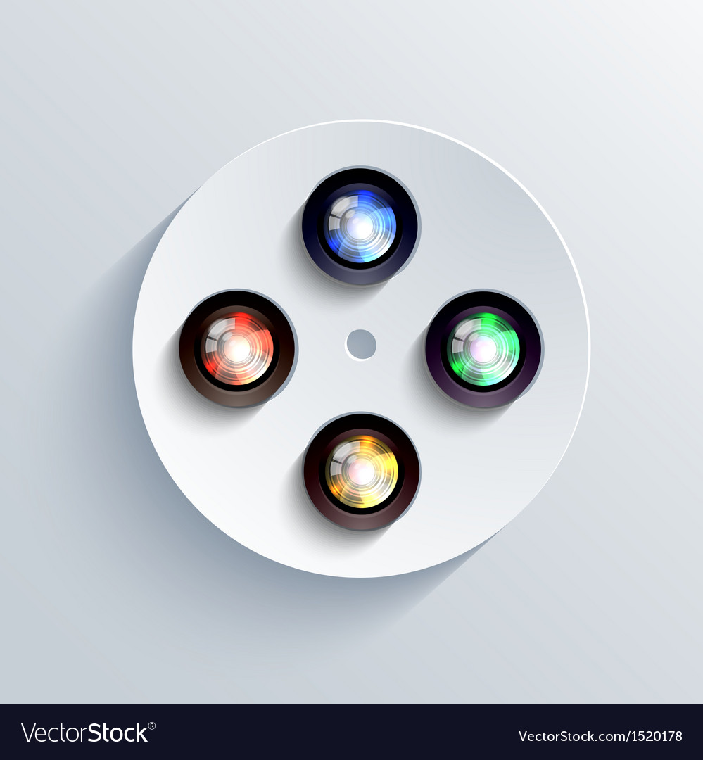 Camera icon background eps10 vector | Price: 1 Credit (USD $1)