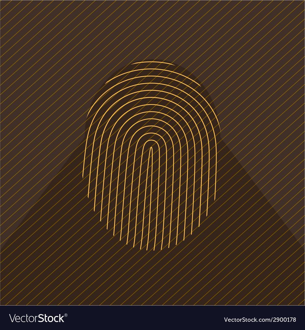 Fingerprint icon vector | Price: 1 Credit (USD $1)