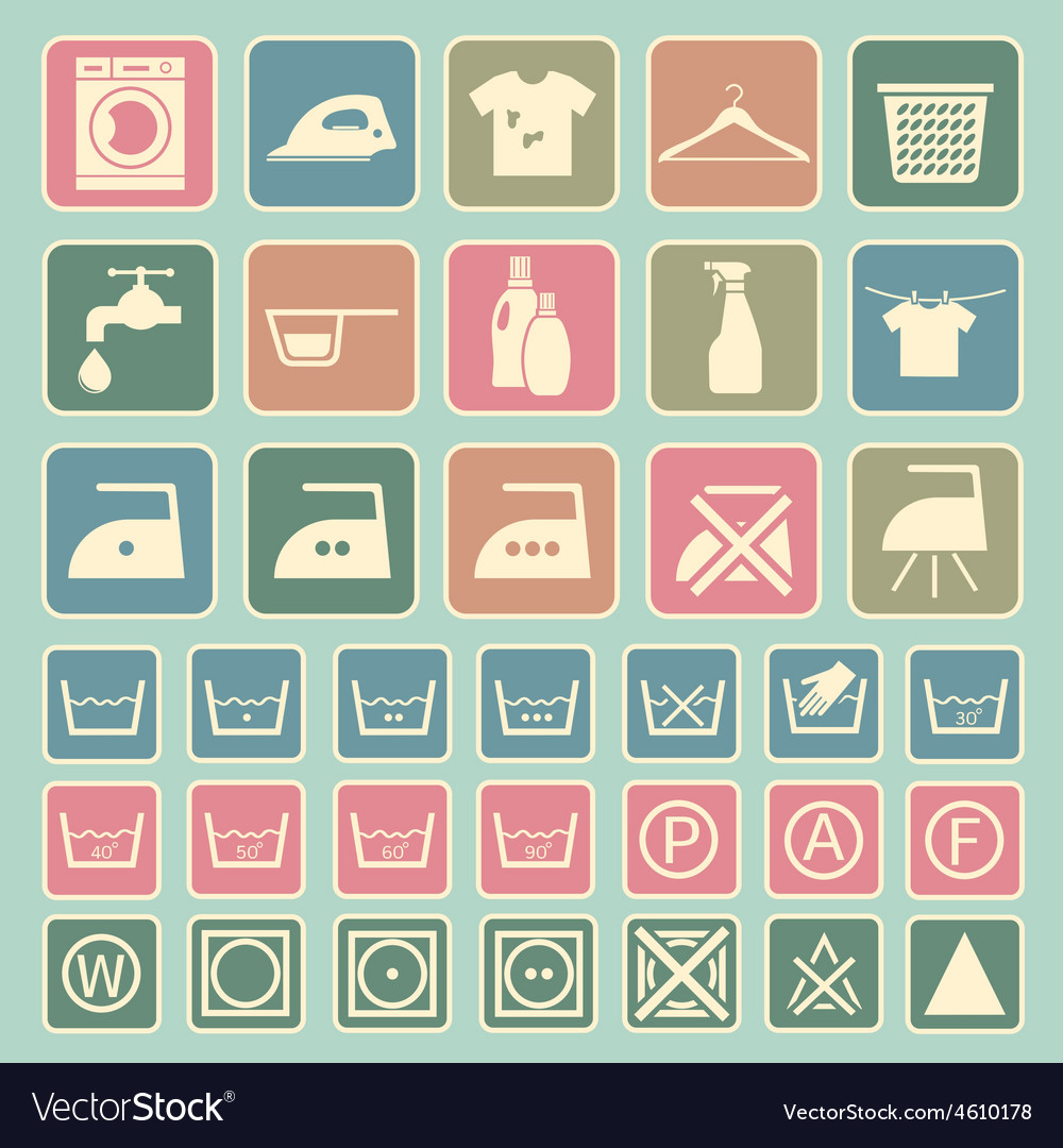 Laundry and washing icon vector | Price: 1 Credit (USD $1)