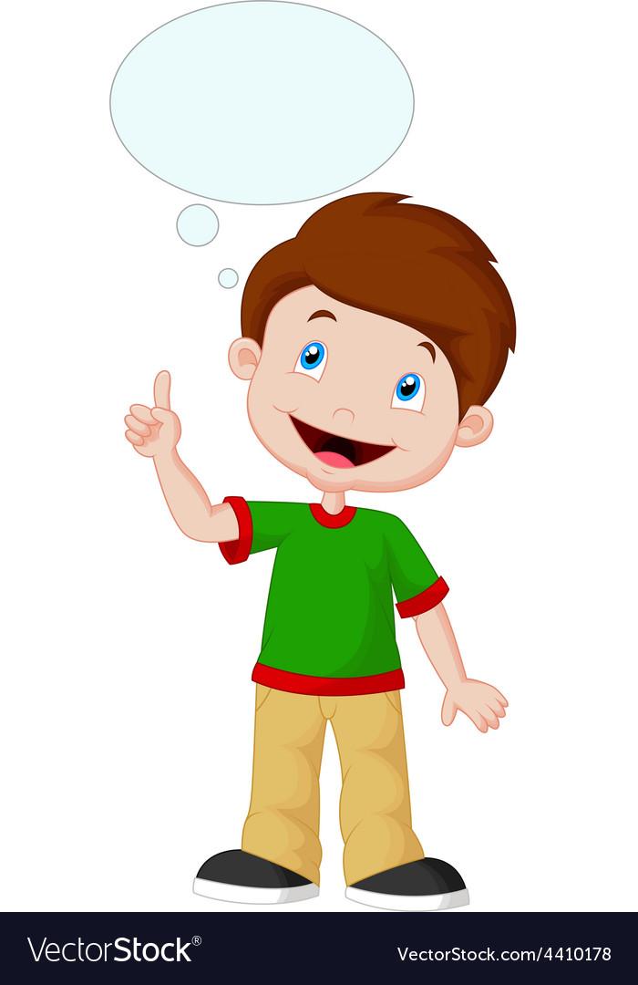 Little boy with big idea vector | Price: 1 Credit (USD $1)