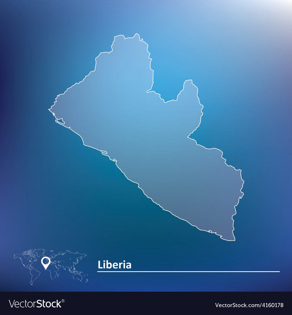 Map of liberia vector | Price: 1 Credit (USD $1)
