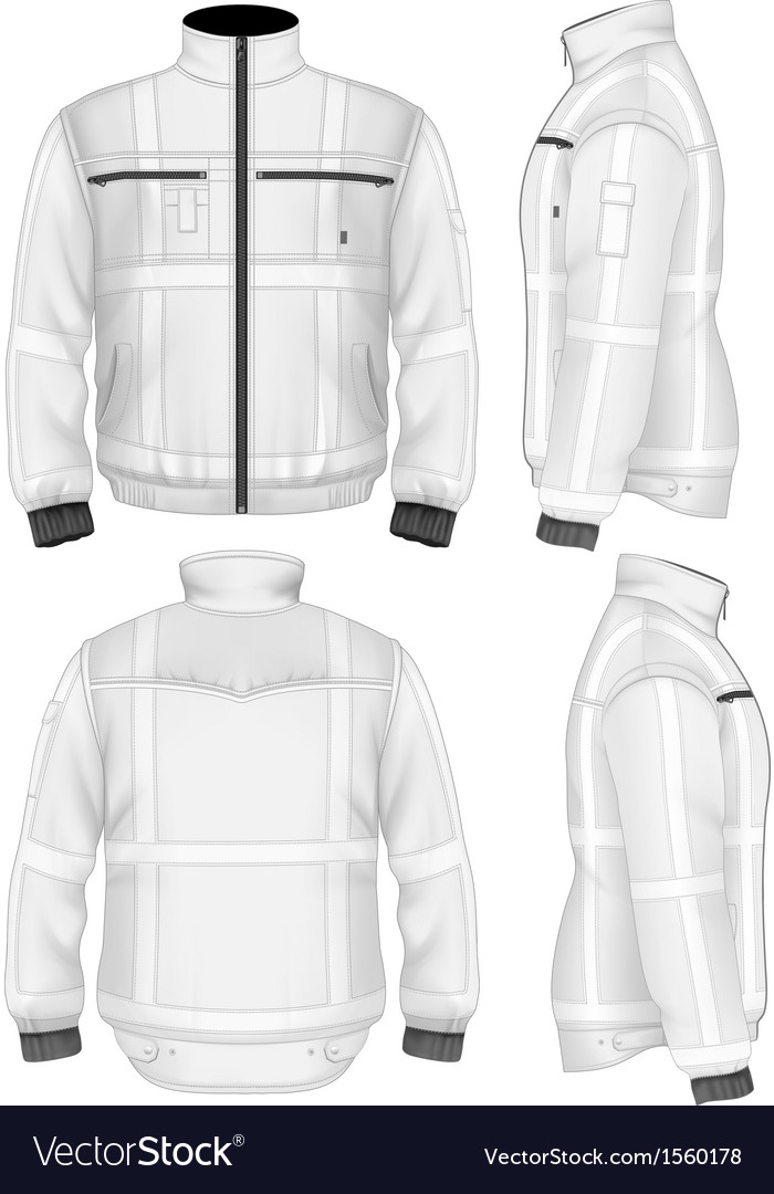 Mens reflective safety jacket vector | Price: 1 Credit (USD $1)
