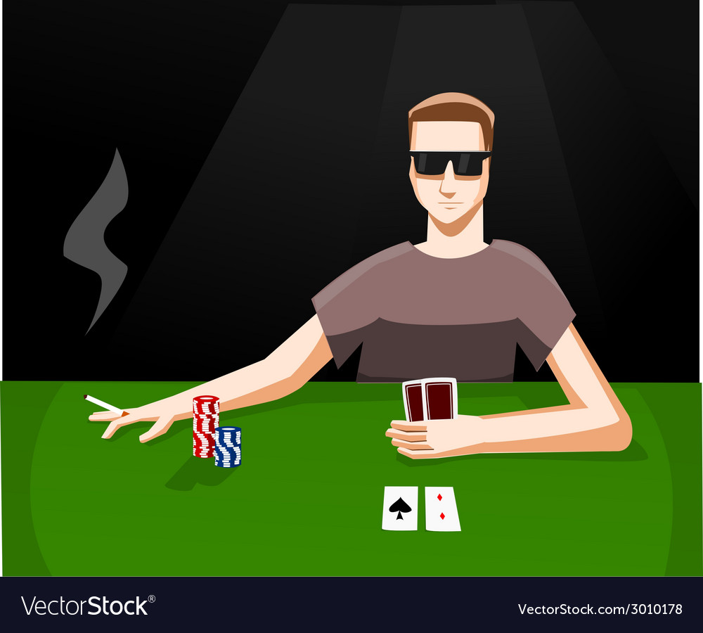 Playing poker vector | Price: 1 Credit (USD $1)