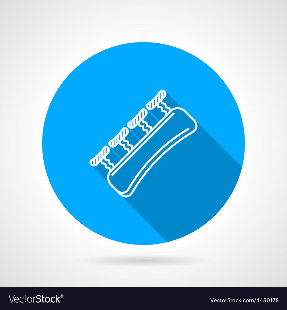 Round blue icon for gripping finger vector | Price: 1 Credit (USD $1)