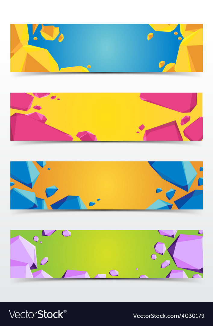 Abstract polygon banner vector | Price: 1 Credit (USD $1)