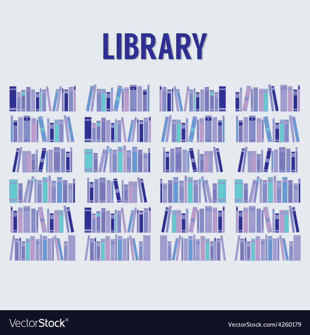 Books in the library without shelf vector | Price: 1 Credit (USD $1)