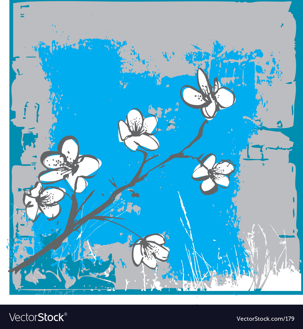 Cherry blossom wall vector | Price: 1 Credit (USD $1)